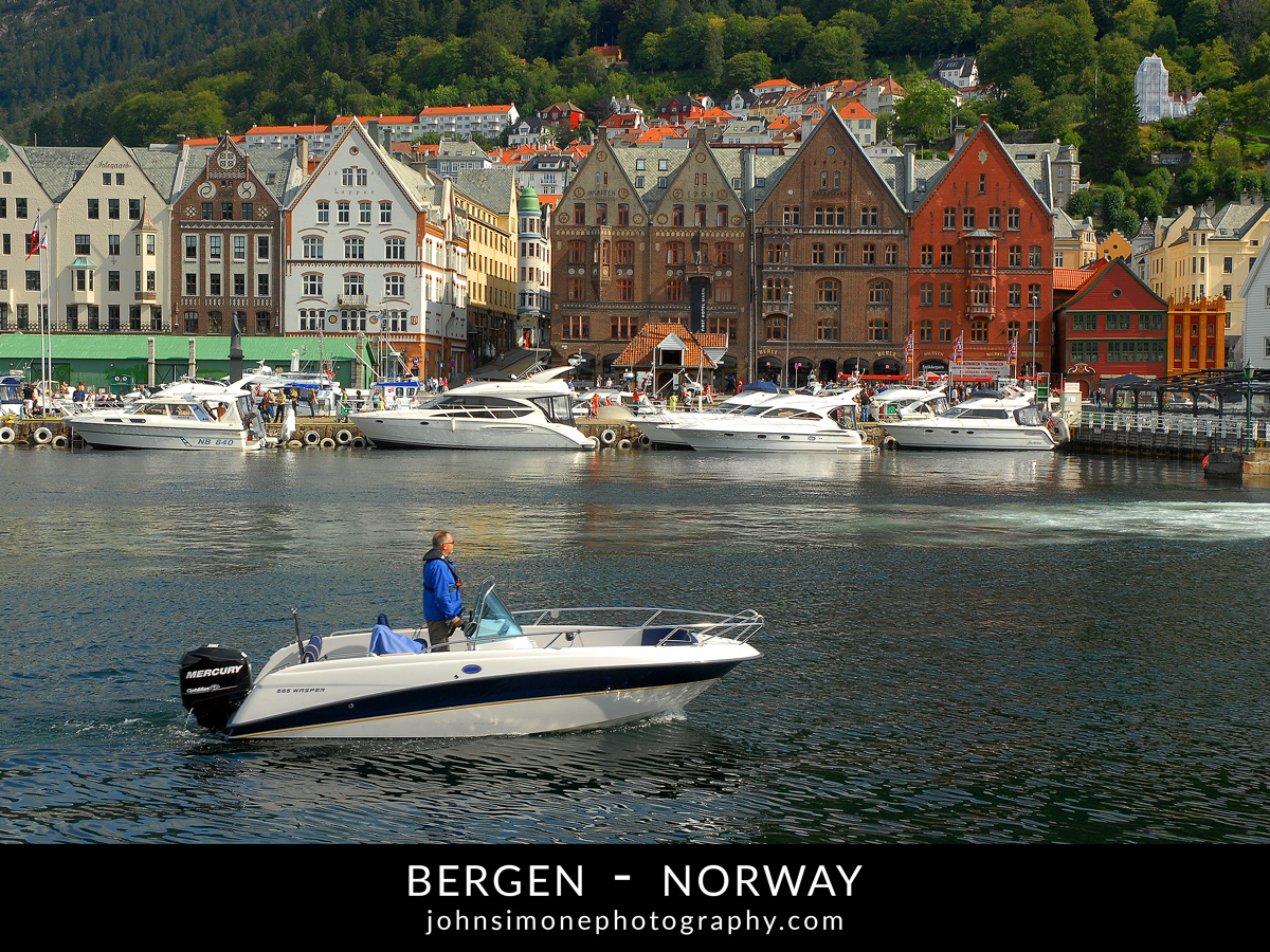 A photo montage by John Simone Photography on Bergen, Norway