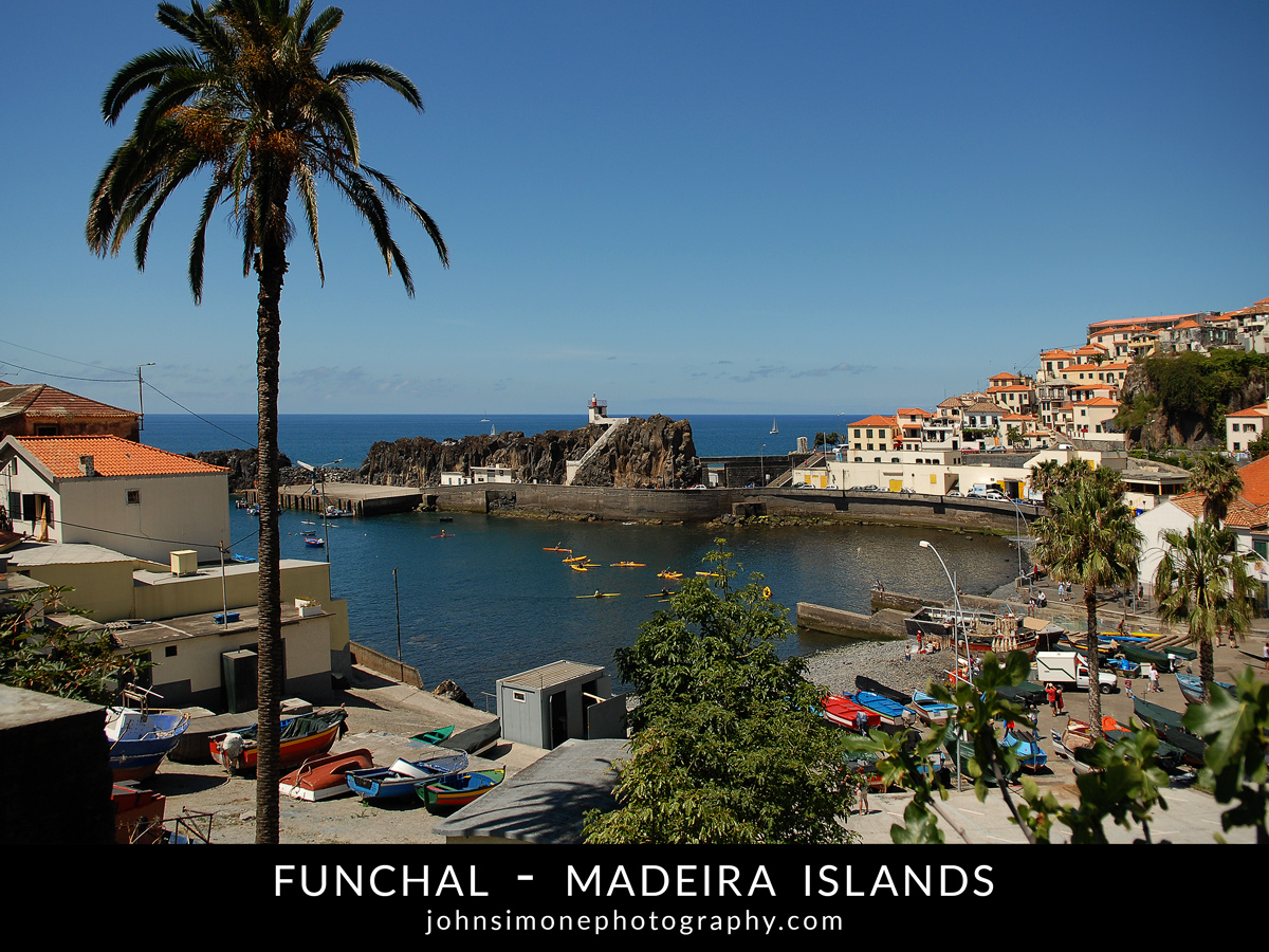A photo montage by John Simone Photography on Funchal, Madeira Islands
