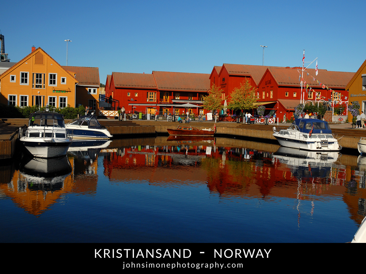 A photo montage by John Simone Photography on Kristiansand, Norway