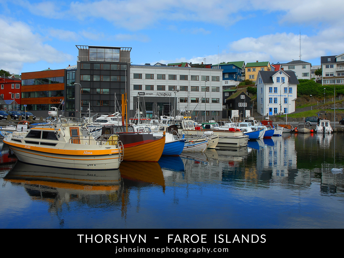 A photo-essay by John Simone Photography on Thorshvn, Faroe Islands